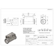 TUBULAR ELECTRIC HEATER 2.25KW 400V-3 d.160mm ON CIRCULAR DUCT