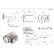 TUBULAR ELECTRIC HEATER 3KW 230V d.250mm  ON CIRCULAR DUCT