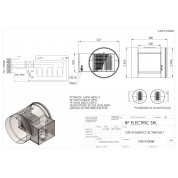 WIRED ELECTRIC HEATER 16KW 400V-3 d.400mm ON CIRCULAR DUCT