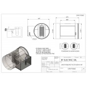 WIRED ELECTRIC HEATER 2KW 230V d.315mm ON CIRCULAR DUCT