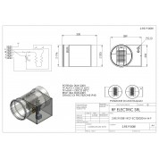 WIRED ELECTRIC HEATER 2KW 230V d.200mm ON CIRCULAR DUCT