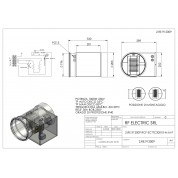 WIRED ELECTRIC HEATER 1KW 230V d.200mm ON CIRCULAR DUCT