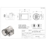WIRED ELECTRIC HEATER 1.5KW 230V d.250mm ON CIRCULAR DUCT