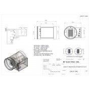 WIRE ELECTRIC HEATER 1KW 230V d.250mm  ON CIRCULAR DUCT