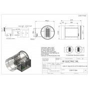 WIRE ELECTRIC HEATER 3KW 230V d.315mm ON CIRCULAR DUCT