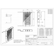 WIRE ELECTRIC HEATER 1.5KW 230V 153x230 ON VERTICAL FRAME