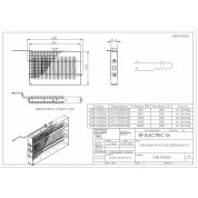 WIRE ELECTRIC HEATER 1KW 230V 270X152 ON HORIZONTAL FRAME